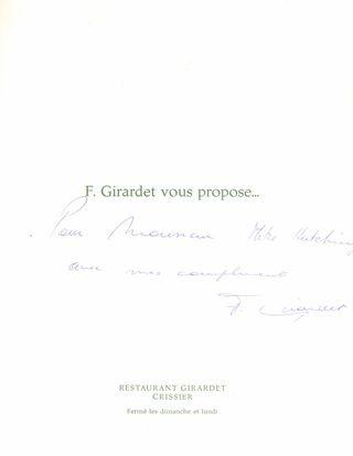 Girardet Signed Menu